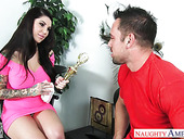 Johnny Castle bangs sexy dad's girlfriend Darling Danika in mouth and pussy