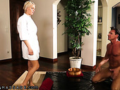 Hot Spanish man gives a massage to bodacious blond babe Kenzie Taylo