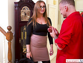 Big butt milf Skylar Snow is fucked hard in doggy style pose