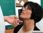 Strict teacher Shay Fox turned out to be a good cock sucker and insatiable bitch