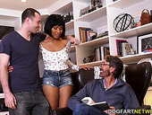 Meeting BF's stepfather ends with hardcore double penetration threesome