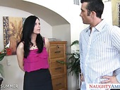 Killing hot seductress India Summer is sucking a dick before passionate sex