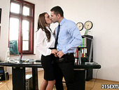 Young secretary Dominica Lito allows to penetrate anal hole