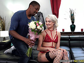Three giant cocks attack all holes of naughty blond babe Zoe Sparx