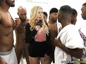Black boys fuck deep throat of nasty white chick Kali Roses and cum on her face
