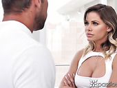 Jessa Rhodes and Johnny Castle are playing strip poker before crazy sex