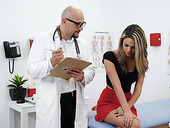 Kinky physician J Mac licks pussy of sexy patient during the examination