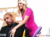 Young secretary Karla Kush is fucked by hot blooded boss right in the office