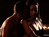Voluptuous and sinful babe Simony Diamond is making love by candle light