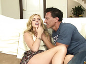 Hot blooded guy Marco drills pussy and mouth pretty teen blonde Lexi Belle