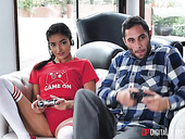 Stepsister and stepbrother are fucking accidentally while playing video games