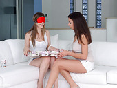 A big double ended dildo for birthday girl Stella Cox