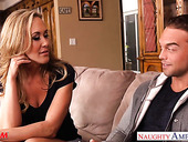 Hot blooded cougar Brandi Love is craving for son's best friend