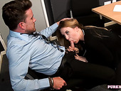 Office slut Anna Darling gives her head and gets laid after the presentation