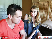 Johnny Castle fucks engaged to her father babe Natalia Starr in mouth and pussy