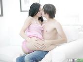 Skinny babe with petite ass enjoys a big cock penetrating her anus