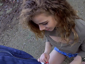 Barely legal Spanish teen performs oral job and gets fucked for money