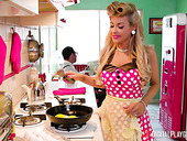 Pinup housewife Kayla Kayden is cheating on her husband with hot captain Danny Mountain