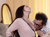 Kinky professor bangs seductive student in mouth and tight wet pussy