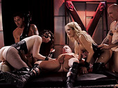 Jessica Drake, Casey Calvert and Luna Star are fucked and fed with sperm