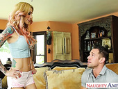 Gold digger Sarah Jessie gets intimate with patron's adult son Johnny Castle