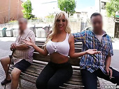 Street whore with big ass Blondie Fesser picks up one dude for unforgettable sex fun