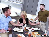 Sexiest milf Phoenix Marie is fucked by her new husband and his adult son