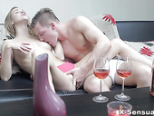 Young beauty Alexis Crystal takes cumshots on pussy after passionate sex