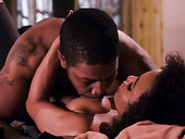 Beautiful black couple Demi Sutra and Isiah Maxwell has passionate sex in different poses