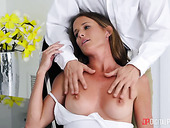 Captivating woman Sofie Marie gives a wonderful blowjob before passionate sex