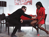Black pussy meets huge white cock in new Digital Playground site