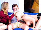 Lucky guy fucks bodacious blonde Julia Ann and one hot blooded chick
