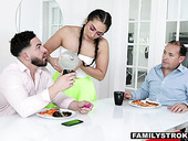 PAWG and big tittied stepsister Lilly Hall is fucked by stepbrother Peter Green