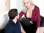 Jaw dropping stepmom from Germany Nina Elle is fucking her adult stepson