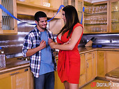 First meeting with GF's mom Missy Martinez ends with sneaky quickie in the kitchen