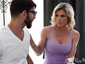 Seductive blondei Cory Chase gets toyed and fucked anally for the first time