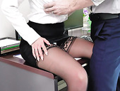 Sexiest babe Brooklyn Chase is fucked on the table in the office