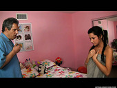 Cute college babe Tanner Mayes is manipulated by Herschel Savage for dirty sex