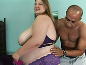 That bald guy loves plumpy curves of Charlly Moore