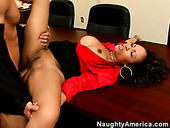 Slutty secretary Lacey Duvalle seduces her strict boss