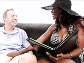 Glamorous ebony bomb shell Naomi Banxxx seduces Mark Wood