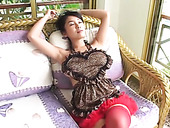 Slutty housewife Megumi Kagurazaka gets horny at home