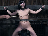 BDSM punishing of nasty brunette mommy Elise Graves