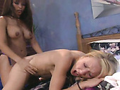 Two girls  fucking each other and licking pussies