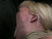 Cum addicted bitch Alice Frost is made to suck a cock