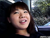 Chubby Asian teen Mai Mariya makes a perfect leg spit after a lunch