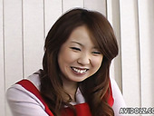 Cute Japanese girl Yui Kazuki is truing on crotchless bikini