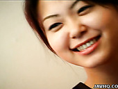 Aroused Japanese cutie Ai Nagase masturbates in front of camera