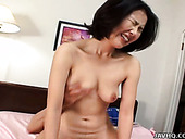 Voracious Japanese MILF slut is having passionate sex with sideguy