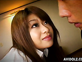 Perverse dude finger fucks beaver of Japanese babe Nagisa Sasaki in close up sex video